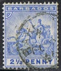 Barbados SG109 1892 Definitive 2½d good/fine used